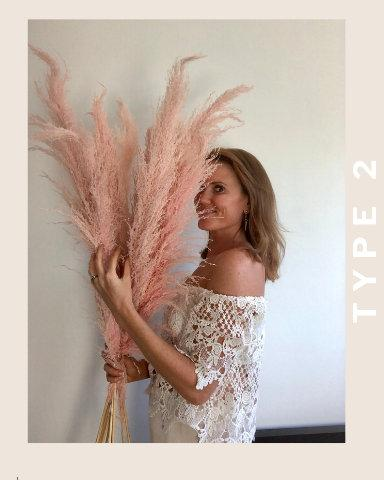 PAMPAS GRASS Pink (3 Stem)- Type 2 Blush Pink - LUXE B OFFICIAL