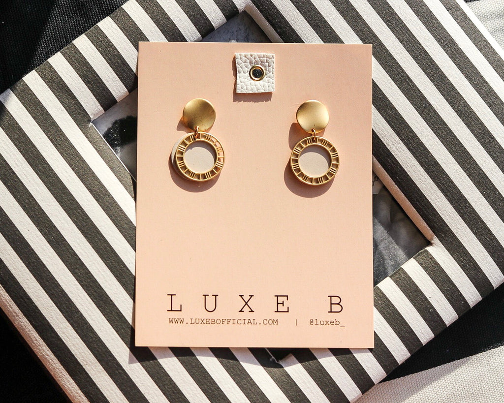 LUXE B Mackenzie Dangling Earnings Bohemian Wedding Earrings - LUXE B PAMPAS GRASS