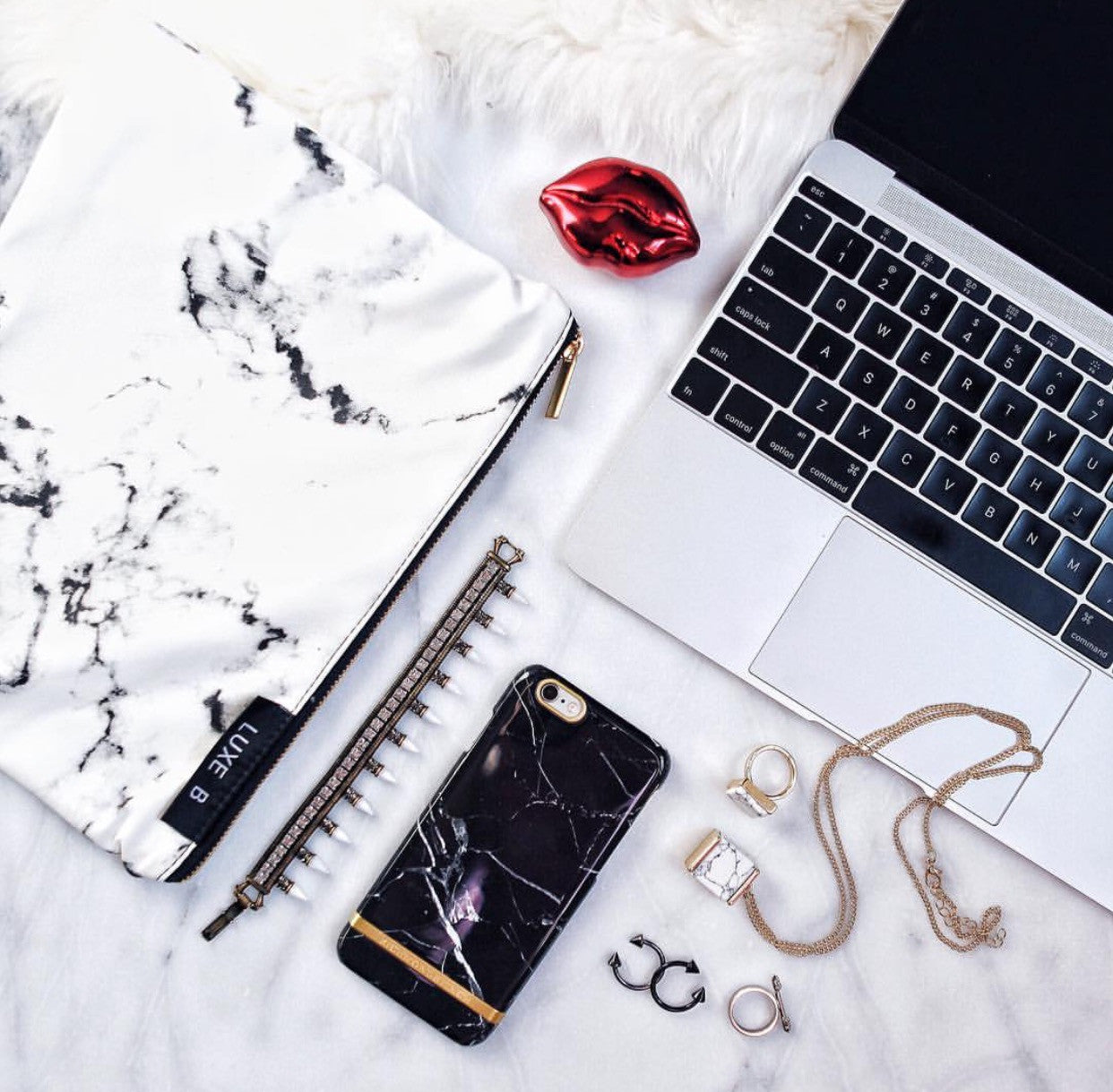 luxe blogger Marble bag