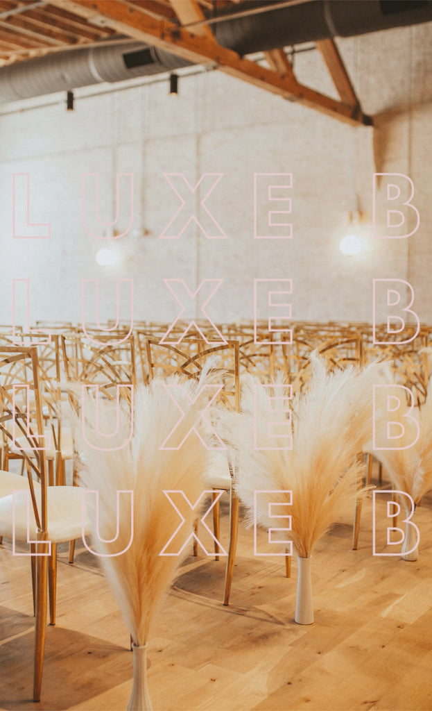 "Luxe B ""Faux"" Artificial Fake Pampas Grass Cream Wedding Bundle"