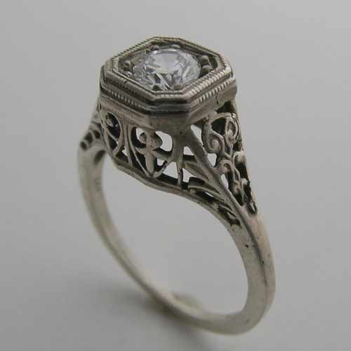 Antique Filigree Ring Settings