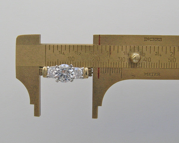 SIMPLISTIC TWO TONE DIAMOND RING SETTING