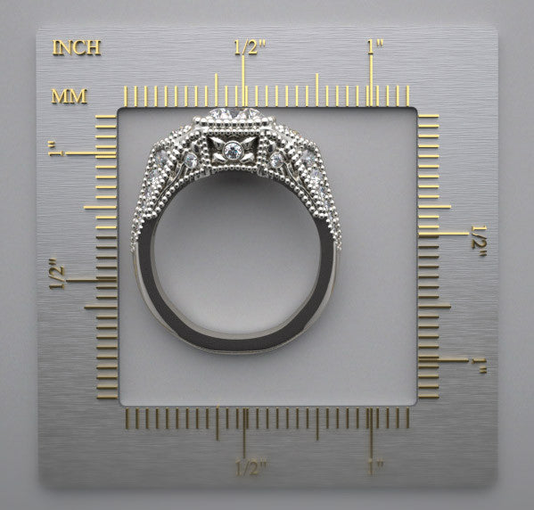 Platinum Ring With Diamond Accents