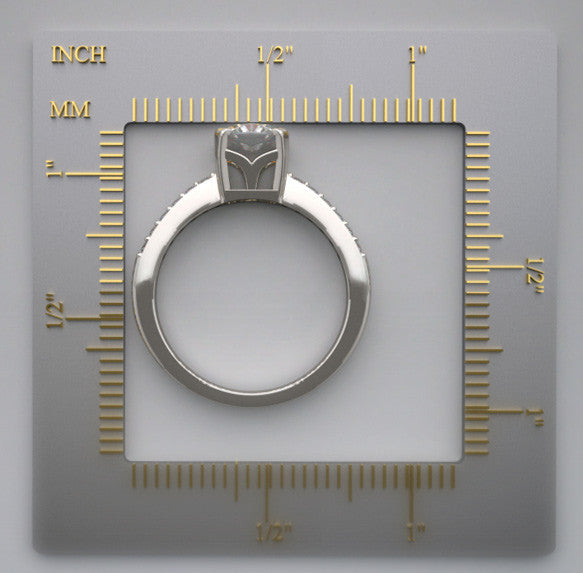 Gold Ring Setting 1.00 Ct., Round