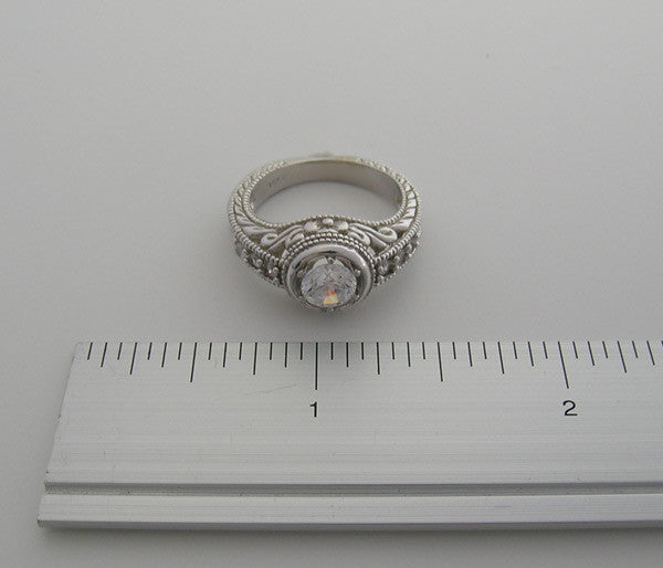 RING SETTING OR RING REMOUNT SETTING DESIGNER COLLECTION DIAMOND ACCENT