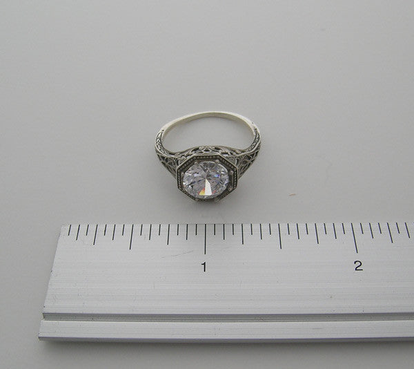 Gold Vintage Style Ring Setting 8.00 Gemstone