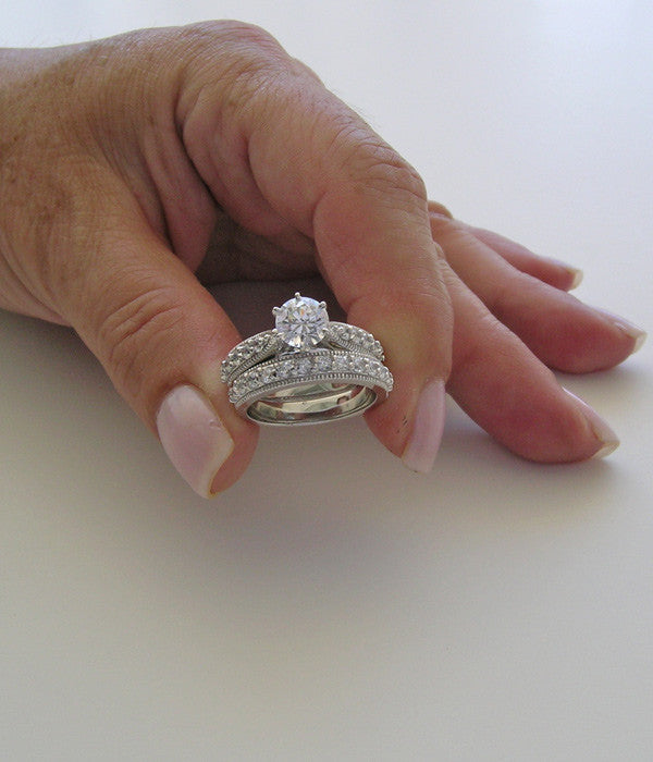 Ring For Her Wedding With Diamond Accents