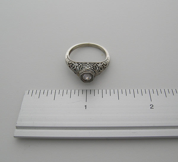White Gold Old World Ring Setting