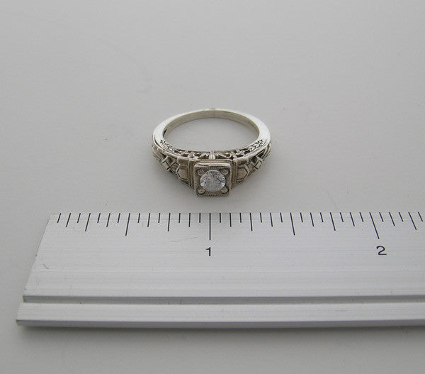 14K ANTIQUE STYLE GEMSTONE RING SETTING