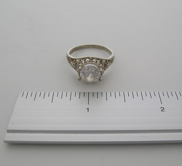 14K FILIGREE RING SETTING FEMININE VINTAGE DESIGN