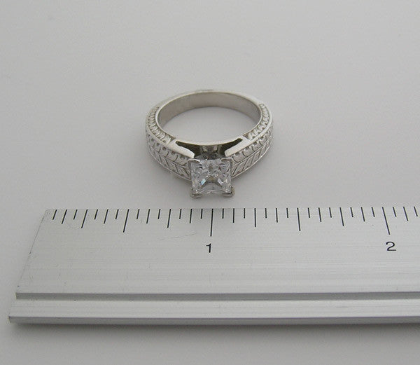 RING SETTING BEAUTIFULLY ENGRAVED AVAILABLE FOR ALL SHAPE AND SIZES