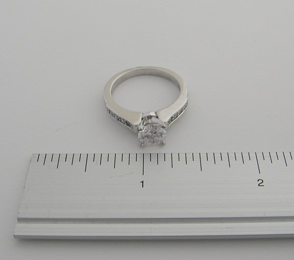 Gold Basic Ring Setting For Round Center Stone