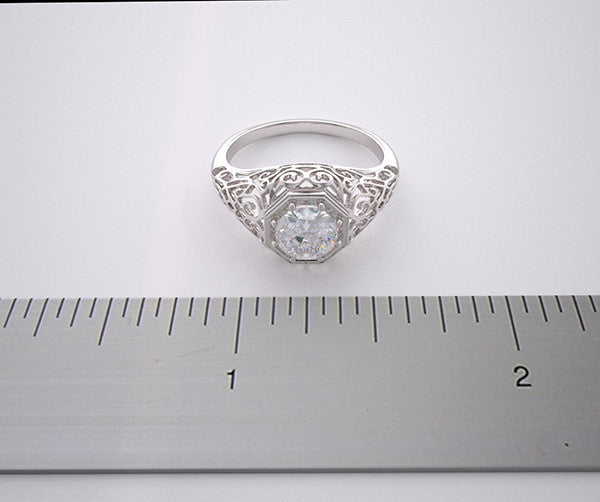 NON TRADITIONAL FILIGREE ANTIQUE STYLE RING SETTING