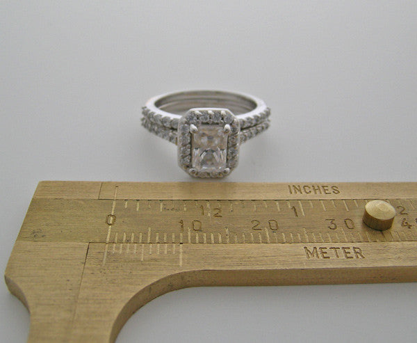 GOLD ART DECO STYLE ENGAGEMENT  BRIDAL RING SETTING SET