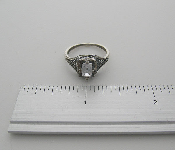 Ring settings for emerald shape stone  6X4 mm