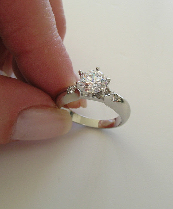 14K CLASSIC CONTEMPORARY RING SETTING REMOUNT