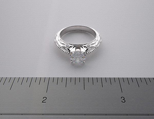 Ring Setting For Round Center