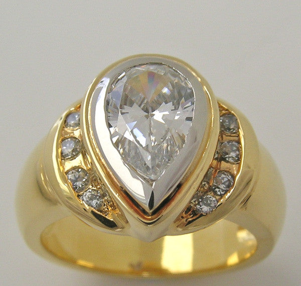 Pear Shape Measuring 9.00 x 6.00 mm Diamond Ring Setting