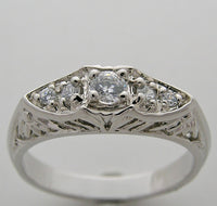 ART DECO ANTIQUE STYLE DIAMOND WEDDING RING