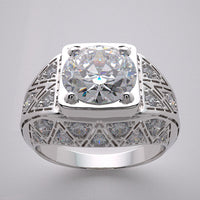 Engagement Diamond Rig setting Antique Style for a 8.00 mm round diamond center