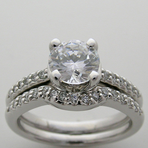 Diamond.Engagement Ring Setting Sets for a 1.00 Carat round Diamond