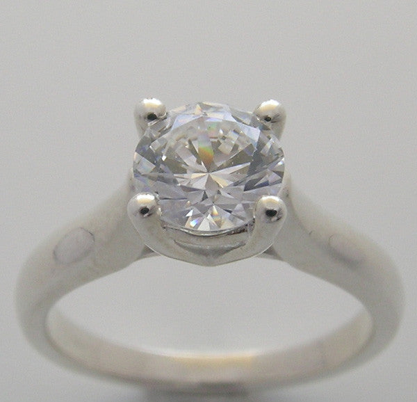 GOLD BASIC SOLITAIRE ENGAGEMENT RING SETTING 4 PRONG