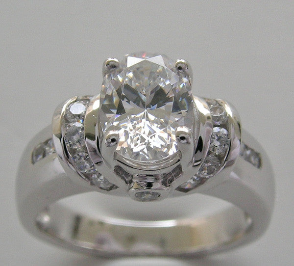 OVAL SHAPE 8.00 X 6.00 MM ENGAGEMENT DIAMOND RING SETTING