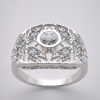 Lace Filigree Style Diamond Ring Setting, for Diamond 4.1 mm