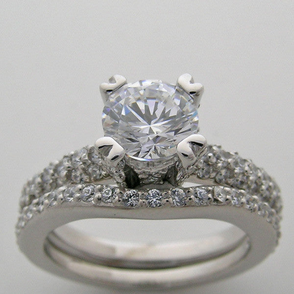 Engagement Ring Setting s Sets for a 6.5 mm Center Diamond
