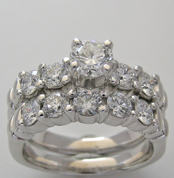 UNUSUAL DIAMOND ENGAGEMENT RING BRIDAL SET FOR ALL SIZE AND SHAPE