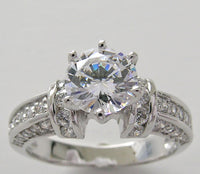 DIAMOND ACCENT ENGAGEMENT RING SETTING FOR ALL SHAPES AND SIZES