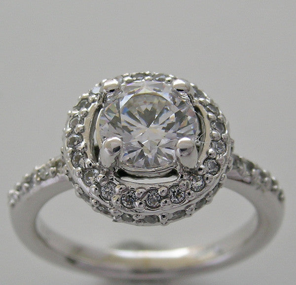 Halo Style Diamond Ring Setting or Re-Mount for a 1.00 Carat Round Center