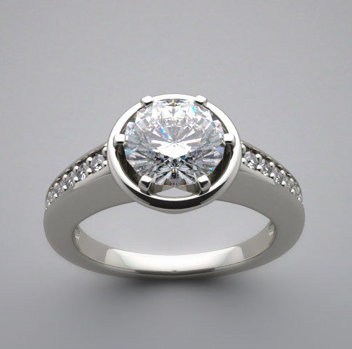 Ring Setting Remount for 1.00 Carat Round Diamond