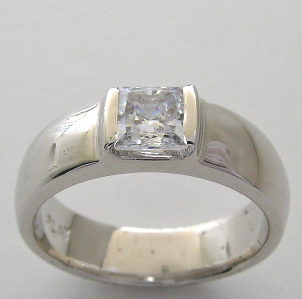 PRINCESS CUT ENGAGEMENT RING SETTING FOR A 4.80 MM SQUARE SHAPE