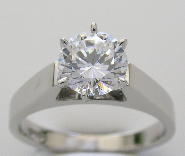 Solitaire Classic Ring Setting for All Size and Shape Center Gemstone