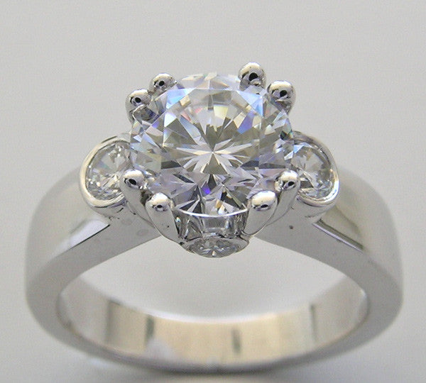 Diamond Ring Setting for a7.40 mm round diamond