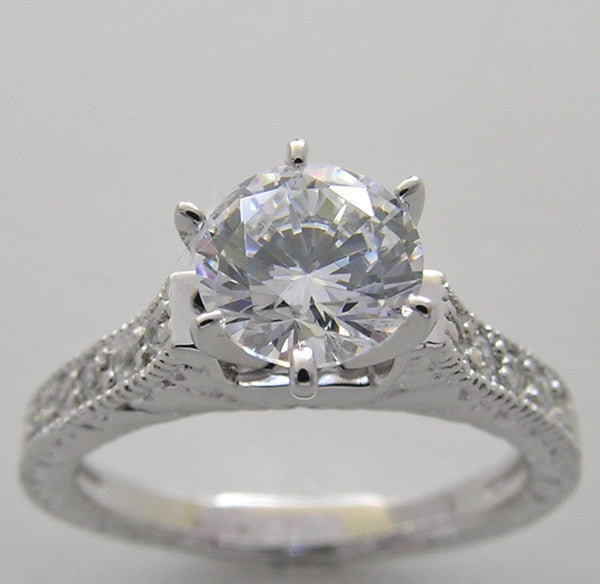 Diamond Engagement ring setting for All Size Shape Gemstones