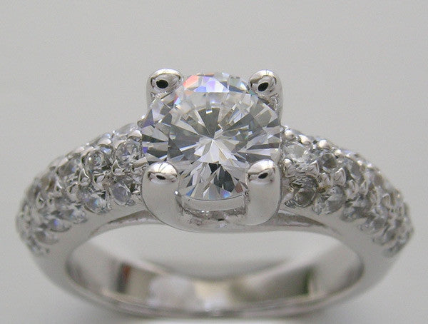 Diamond Ring setting fo a 1.00 Carat round diamond