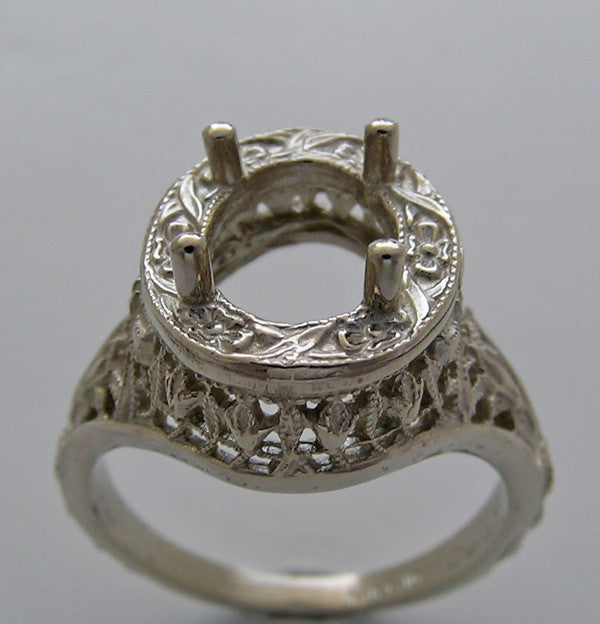 Art Deco Filigree Engagement Ring setting