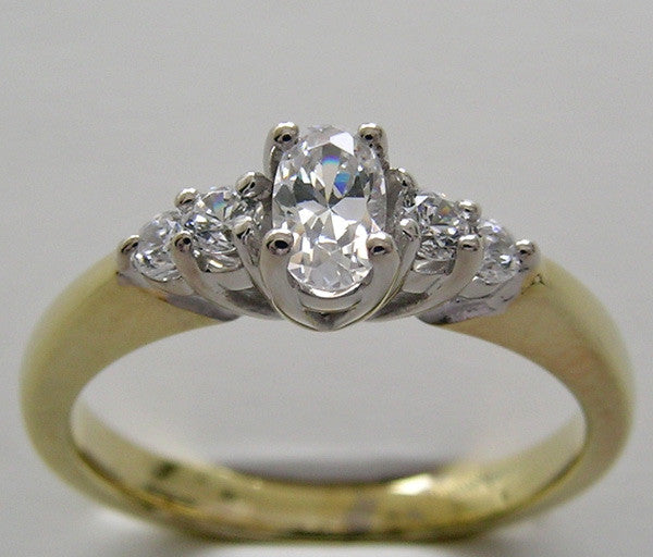 Oval Shape 5.00 x 3.00 mm Diamond  Engagement Ring Setting
