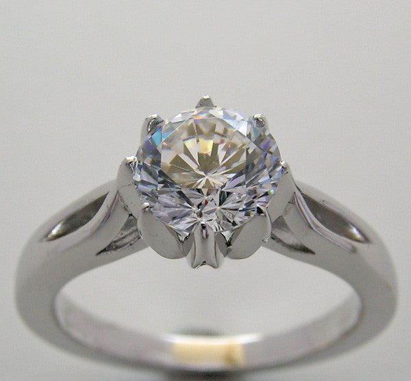 SOLITAIRE ENGAGEMENT RING SETTING FOR A 6.50 MM OR 1.00 CARAT ROUND STONE