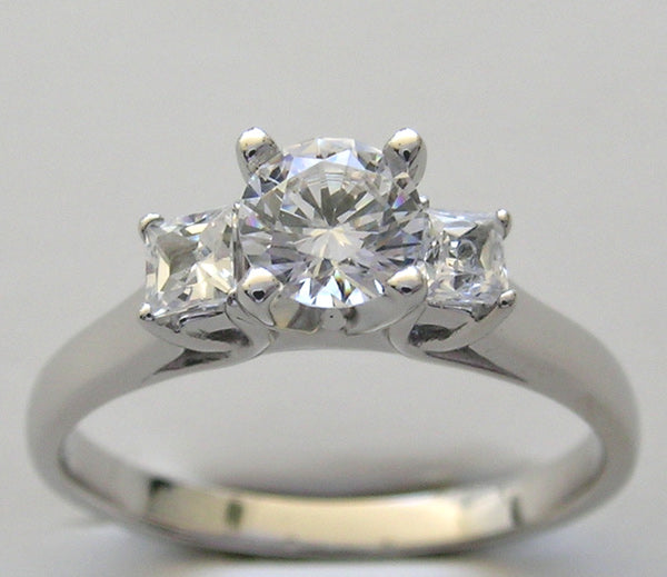 Princess Cut Diamond Ring Setting for all size and Shape Diamond
