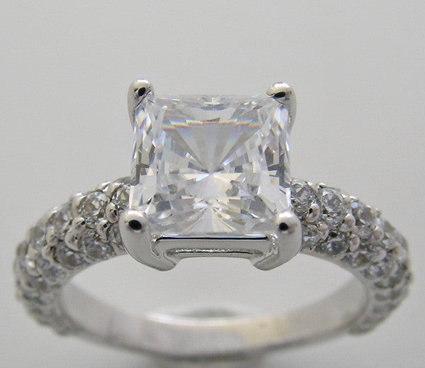 Princess Cut 6.50 x 6.50 mm Diamond Engagement Ring Setting