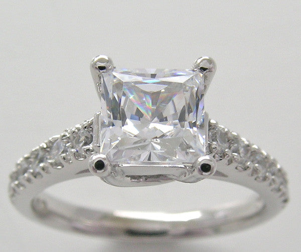 Princess Shape Diamond Engagement Ring Setting
