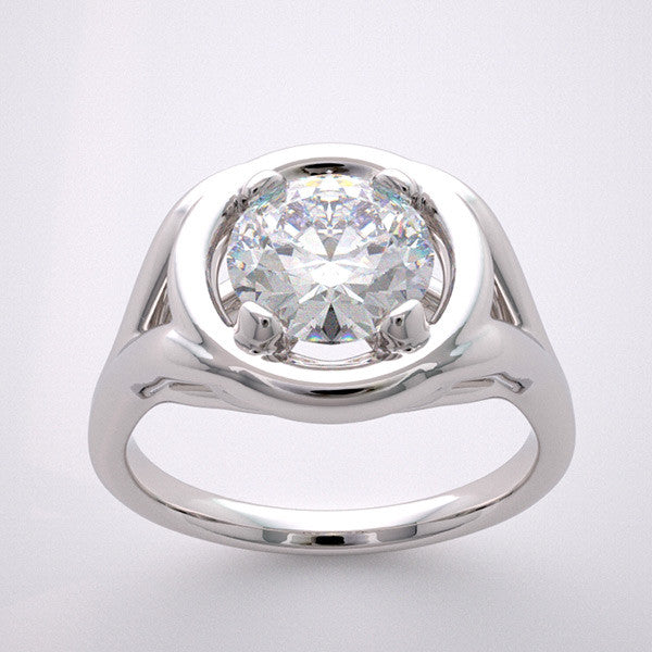 Elegant Ring Setting Design for a 7.00 mm Diamond