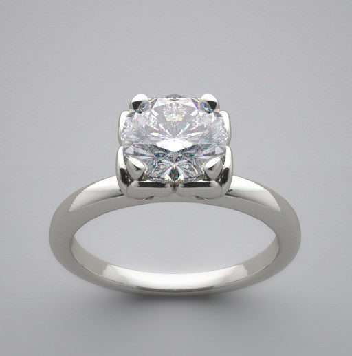 Feminine Engagement Ring Setting for a 1.00 Carat Round Diamond