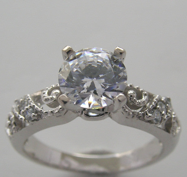 Art Deco Style diamond ring setting