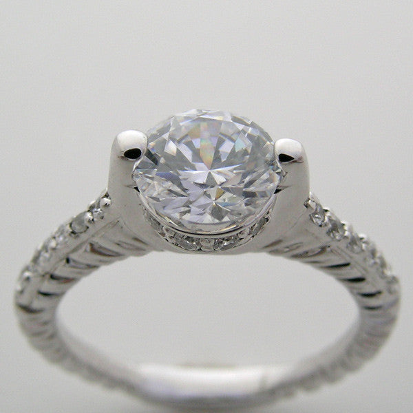 Diamond Ring setting  for a 6.50 mm or 1.00 Carat round diamond