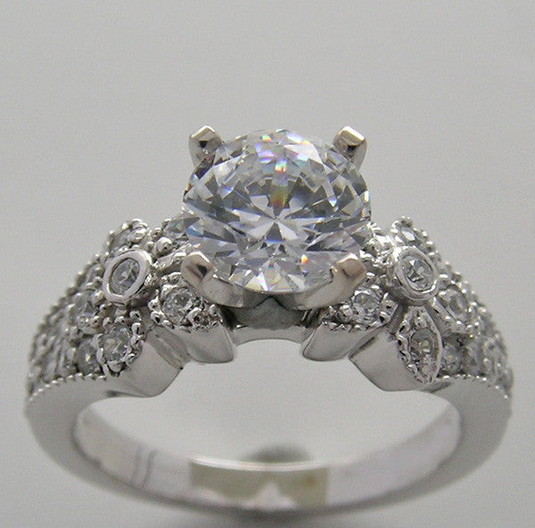 Engagement Ring Setting or Remount with Diamond Accents for all size and Shape diamonds