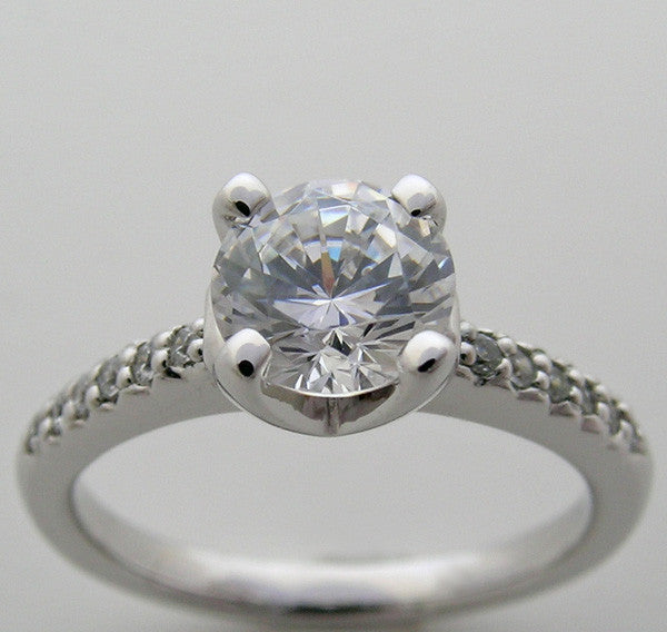 Engagement Ring Setting Solitaire design for a 6.5 mm Diamond